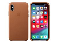Apple - Baksidedeksel for mobiltelefon - lær - salbrun - for iPhone Xs MRWP2ZM/A